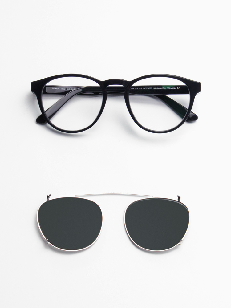 Mykita NO.2 Geoffrey dark blue + Clip-on