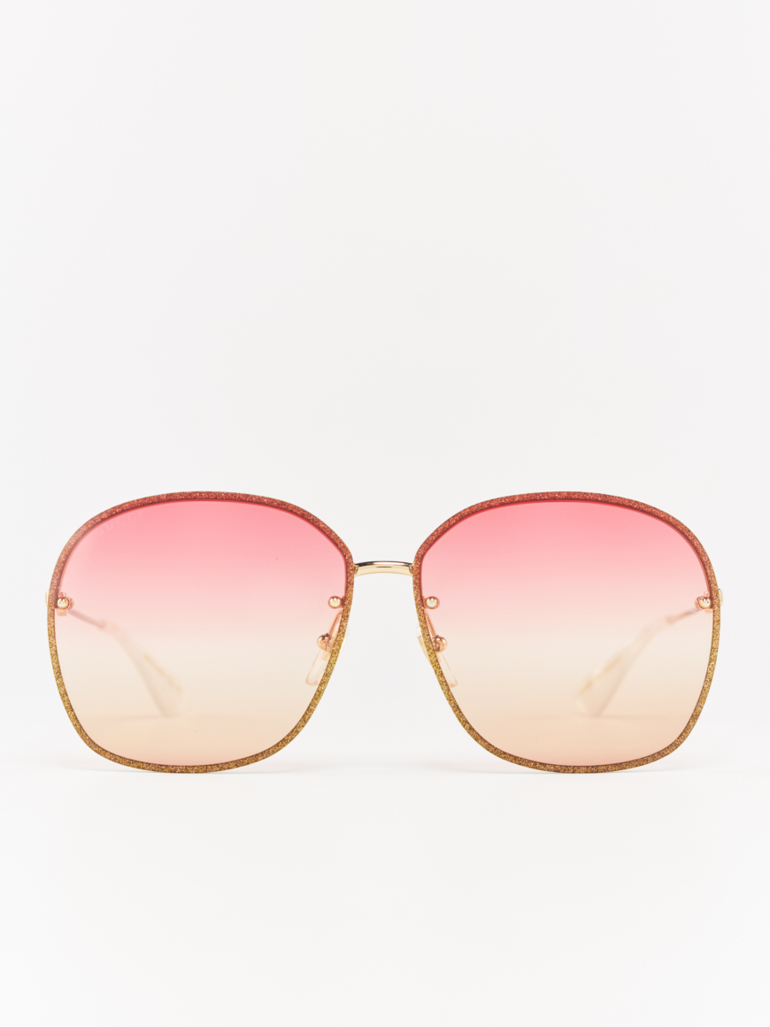 Gucci GG0228s gold metal